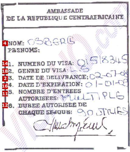Central African Republic Visa